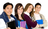 Young students at university — Stock Photo