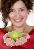 Girl on a healthy diet — Stockfoto