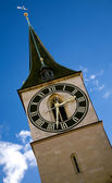 Zurich clock tower — Stock Photo