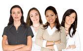 Diverse female business team — Stock Photo