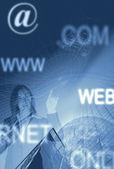 Business communications background — Stock Photo
