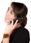 Girl on the phone — Stock Photo