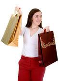 Casual girl shopping — Stock Photo