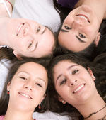 Girls on the floor — Stock Photo
