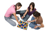 Friends playing board games — Stock Photo
