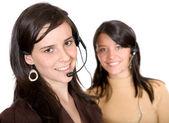Beautiful customer service advisors — Stock Photo