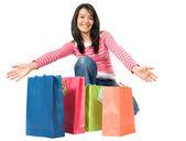 Här är alla mina shopping — Stockfoto