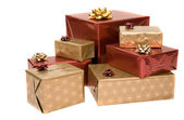 Gifts over white — Stock Photo