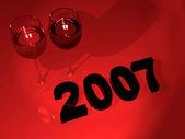 2007 new year celebration — Stock Photo