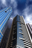 Corporate blue buildings — Stock Photo
