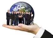 Business team work worldwide — Photo