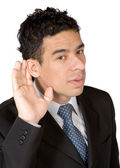 Cant hear you — Stock Photo