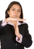 Business woman time out — Stock Photo