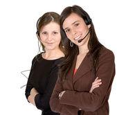 Customer Support Girls — Stock Photo