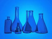 Tubos de ensaio de química — Foto Stock