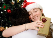 Couple at christmas time — Stock Photo