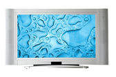 Widescreen television — Stock Photo