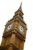 Big ben over white — Stock Photo