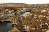 Zurich skyline - river view — Stock Photo