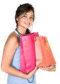 Schöne teenager mit einkaufstaschen — Stockfoto