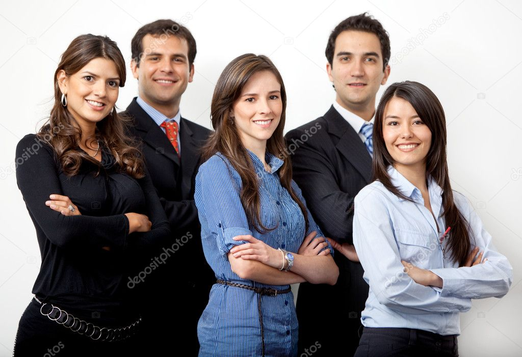 Business group isolated over a white background — Stock Photo #7741829