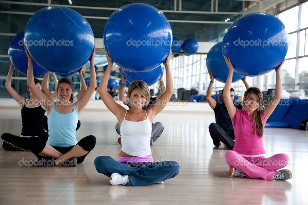 Group of gym in a pilates class — Stock Photo #7742013