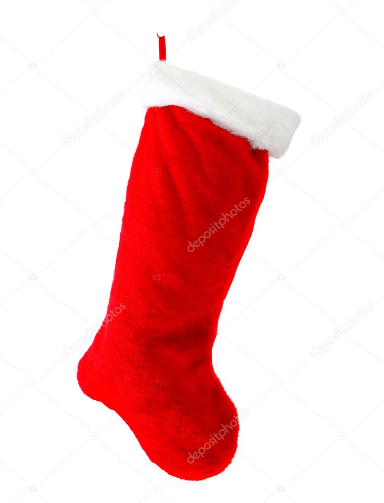 Christmas boot isolated over a white background — Lizenzfreies Foto #7742877