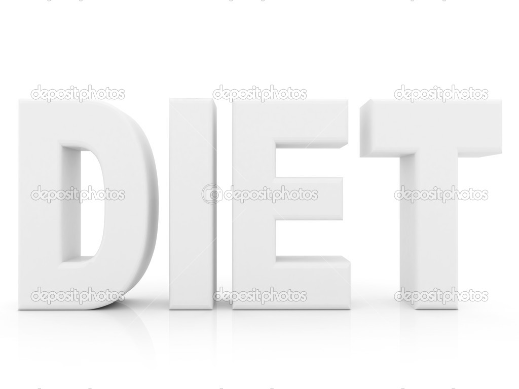 White diet word isolated over a white background — Stock Photo #7743099