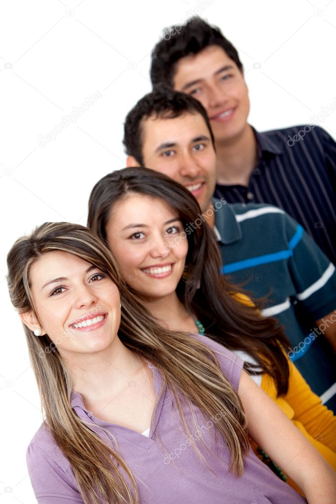 Group of young isolated over a white background  Stock Photo #7745730