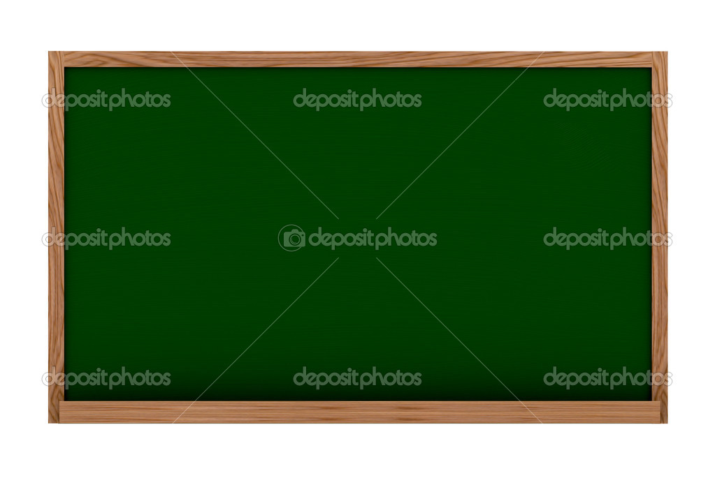 Blackboard over white made in 3d with nice textures — Stock Photo #7748555