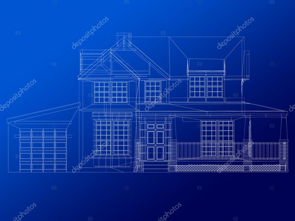 Architecture Blueprint Of A House Stock Photo Andresr