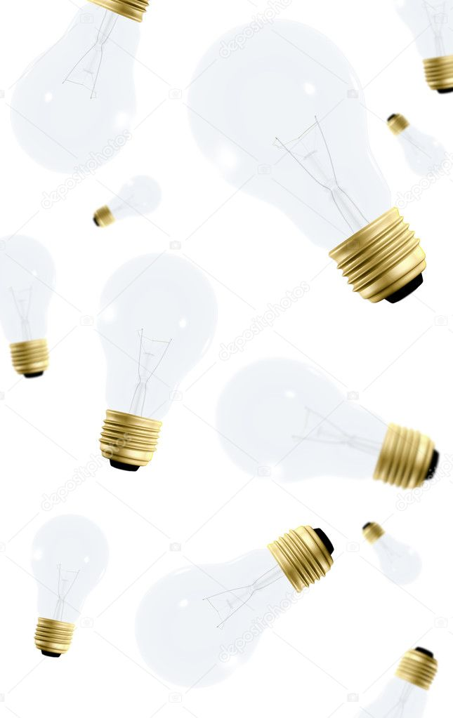 Creativty concept using lightbulbs made in 3d — Stock Photo #7749627