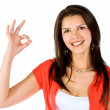 Stock Photo: Ok sign - female portrait