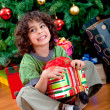 Boy with christmas gift - Photo
