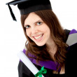 Graduation woman portrait — Stock Photo #7750045