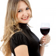 Stock Photo: Drinking woman