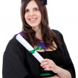 Stock Photo: Graduation woman portrait