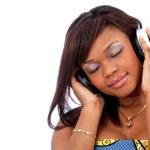 Woman listening to music — Stock Photo #7750134