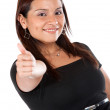 Stock Photo: Casual womwith thumb up