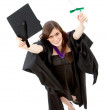 Royalty-Free Stock Photo: Graduation woman portrait - top view