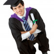 Royalty-Free Stock Photo: Graduation man portrait