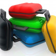 Coloured bags — Stock Photo