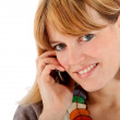 Casual woman on the phone — Stock Photo #7750474