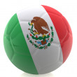 Stock Photo: 3D Mexico football
