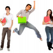 Group of college students — Stock Photo