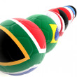 3D footballs with flags — Stock Photo #7750551