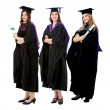 Foto Stock: Graduation women