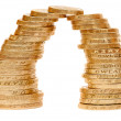 Stock Photo: Two piles of coins