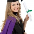 Graduation woman isolated — Stock Photo #7750622