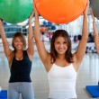 women at a pilates class — Stock Photo